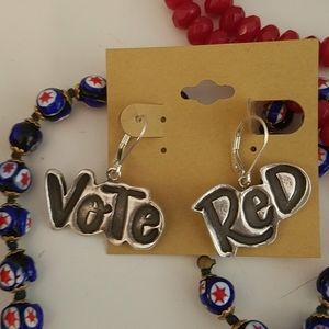 Republican Vote Red Election 2020 Sterling Earring